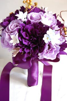 purple wedding flowers bouquets - Google Search