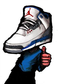 Jordan Retro III- True Blue Artwork
