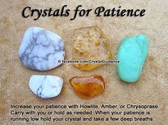 Crystals for patience stones rocks magic love healing