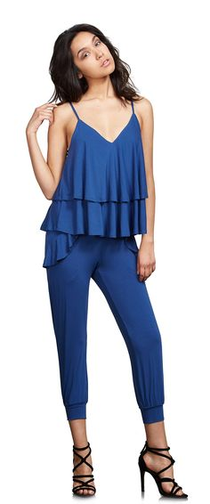 Clothing, Shoes & Jewelry > Women > Clothing > Jumpsuits, Rompers & Overalls > VAVA Solid Tethered Capri Jumpsuit Blue(X-Small) Get Price . Capri Jumpsuit, Jumpsuits For Women, Overalls, Rompers, Clothes For Women, Blue, Amazon, Medium, Link