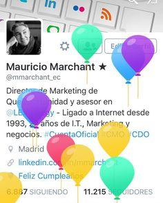 Así te felicita Twitter cuando entras en tu cuenta el día de tu cumpleaños. #twitter #cumpleaños #happybirthday #thankyou #gracias