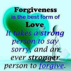 I hate that most people don't seem to be strong enough to say sorry.  Instead they pretend there is nothing to apoligize for.  Leaves the person who was wronged to have to be the strongest of all