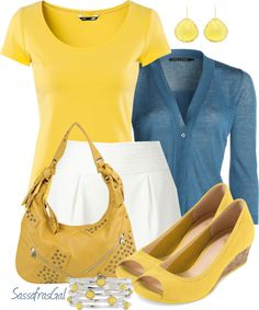 """""""Yellow"""" by sassafrasgal ❤ liked on Polyvore"""