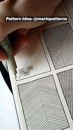 Bullet Journal Paper, Bullet Journal School, Mini Drawings, Doodle Drawings, Doodles Zentangles, Zentangle Patterns, Illusion Drawings, Psychedelic Drawings, Easy Doodle Art