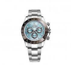 Rolex Cosmograph Daytona 116523 Gold & Stainless Steel Watch (Blue)