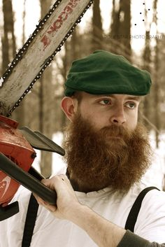huge bushy thick red beard and mustache beards bearded man men mens' style wilderness mountain man chainsaw lumberjack redhead ginger #beardsforever