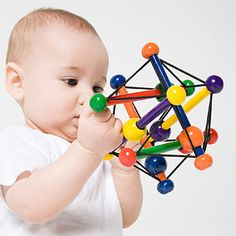Discover which toy types are tops for babies 0-12 months.