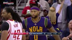 DeMarcus Cousins First Basket as a Pelican |Rockets vs Pelicans| FEBRUAR...