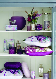 Bold prints and jewel-coloured glassware give our In Bloom living room collection a sophisticated and elegant finish.