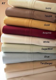 Queen Solid 300 Thread count 100% Egyptian cotton Sheet sets $57.99 www.scotts-sales.com