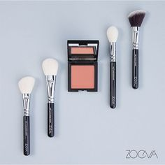 One sweep one blend. Create a flawless and even color result with our Shy Beauty Luxe Color Blush and feathery soft Luxe or Vegan brushes. #ZOEVA #makeupbrushes #blushlove by zoevacosmetics