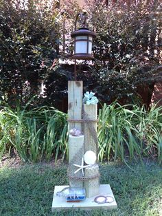 Nautical with Ships in a Bottle Solar Light Display