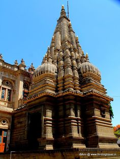 The temple at Shinde Chhatri, Pune, India