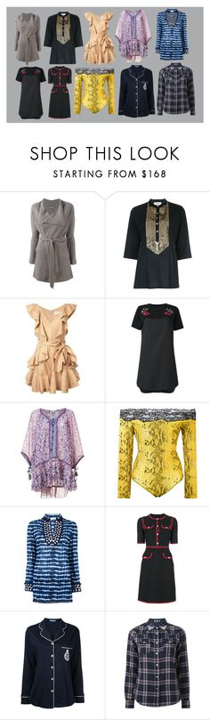 """""""Best tops"""" by monica022 ❤ liked on Polyvore featuring N.Peal, Figue, Zimmermann, Andrea Bogosian, Poupette St Barth, Faith Connexion, Tory Burch, Gucci, Guild Prime and vintage"""