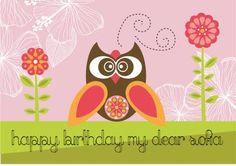 Gorgeous designer owls - perfect for Birthday Cards Owls, Birthday Cards, Card Making, Messages, Retro, Happy, How To Make, Inspiration, Design