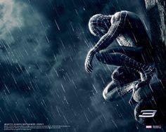 spiderman sit rain picture