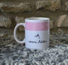 Le mug tasse Prénom aux motifs japonais personnalisable cadeau