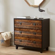 You'll ❤ The Madison Park Byron Chattered Wood Accent Chest Chestnut Find Furniture, Cabinet Furniture, Furniture Deals, Bedroom Furniture, Wooden Furniture, Accent Chests And Cabinets, Trunks And Chests, Wood Chest, Repurposed Wood