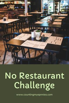 This money challenge takes a look a how much you can save by taking on a no restaurant policy. Money Challenge, Pennies, Frugal, Counting, Benefit, Saving Money, Challenges, Restaurant, Eat