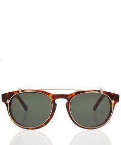 bca36575850 Han Kjobenhavn Tortoiseshell Timeless Sunglasses with Clip-On Frames