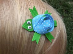 Turtle Ribbon Barrette