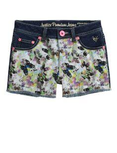 Butterfly Denim Shorts | Girls Shorts Bottoms | Shop Justice