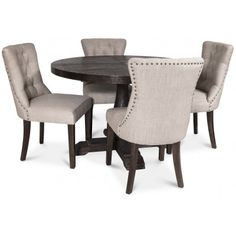 Lamier matgrupp inklusive 4 st Tuva stolar - Brun / beige Oslo, Adele, Dining Chairs, Furniture, Home Decor, Brown Beige, Decoration Home, Room Decor, Dining Chair