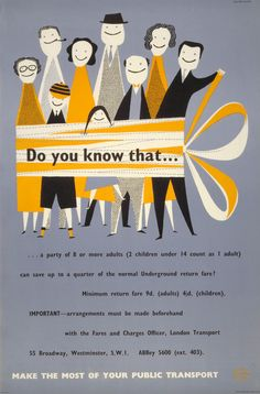 London Transport poster 1959,Victor Galbraith  from Common-or-Garden, via Mid-Century Graphic Design