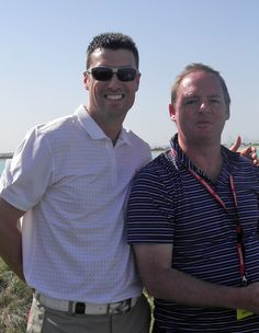Ross Fisher and Mark Robinson Emirates Invitational 2012. Photographs by Suzanne Robinson - robinson golf art