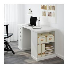 KLIMPEN Bordben med oppbevaring - hvit - IKEA
