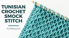 Tunisian Crochet Smock Stitch Free Crochet, Crochet Hooks, Knit Crochet, Diy Crafts Crochet, Yarn Crafts, Tunisian Crochet Patterns, Single Crochet Stitch, Crochet Videos, Crochet For Beginners