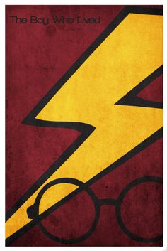 Harry Potter movie poster movie retro print harry by Harshness,
