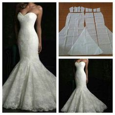 Vestido sirena para novia.
