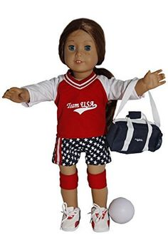 American girl doll sport outfits soccer-basketball-tennis-taekwondo-softball-volleyball | Sofia ...