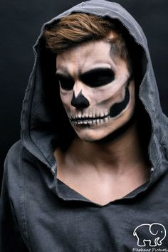 mens halloween makeup                                                                                                                                                                                 More