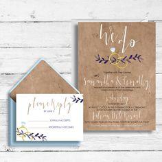 """We Do"" Wedding Invites Custom Wedding Invitations, Wedding Stationery, Paper Goods, Invitation Cards, Wedding Cards, Rsvp, Dream Wedding, The Incredibles, Engagement"