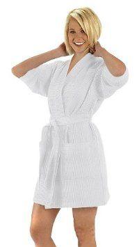 Amazon.com: Pure Linen Turkish Waffle Kimono Style Adult Unisex Bathrobe,