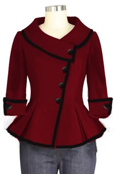 Retro Jacket with Trim Chic Star design by Amber Middaugh