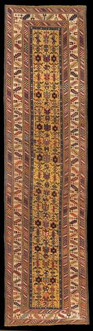 Ci-ci Kirdahyl, Caucaso nord-orientale, metà del XIX secolo, lana su lana, 322 x 87 cm