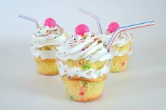 Milk Shakes cupcakes in a cup