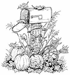 Adult Fall Coloring Pages Unique northwoods Rubber Stamp Harvest Mailbox Pumpkins Fall Autumn Thanksgiving Fall Coloring Pages, Coloring Pages To Print, Printable Coloring Pages, Free Coloring, Coloring Pages For Kids, Coloring Books, Coloring Sheets, Poster Design, Autumn Art