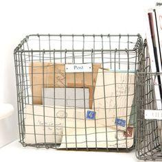 Zinc Post Basket