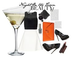 """""""Night on the Town"""" by kylieriot ❤ liked on Polyvore featuring Eva Solo, Neil Barrett, Miss Selfridge, Valextra, ALDO, Olivia Burton, Lipsy and Burt's Bees"""