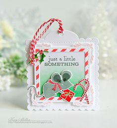 A Little Something Tag by Kay Miller for Papertrey Ink (September 2016)