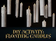 Bewitched candles illuminate Hogwarts' Great Hall, floating high above the students and staff of the school. Now you can safely recreate the floating candles in your own room! These make for great Halloween accents or year-round decorations for diehard Potterheads. Read on to find out how to craft this flame-free decoration! THE SUPPLIES Paper towel …