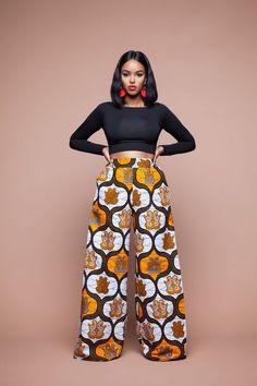 Le pantalon wax Nia mettra avec sa coupe évasée et sa taille haute, mettra votre silhouette en valeur.