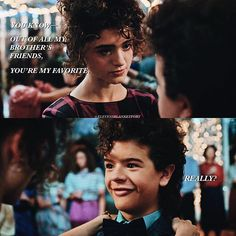 ➵[2.09] who would you rather dance with at the snowball, dustin or mike?