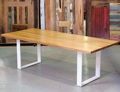 Form Custom Australian Made Recycled Messmate / Blackbutt Box End Legs Dining Table