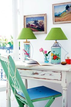 Great idea, vintage thermos - into a lamp! love it! :)