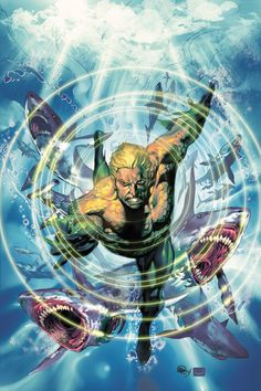 Aquaman, also known as Arthur Curry and Orin, is a superhero and the ruler of the seas. As the king of Atlantis and other undersea territories, he technically controls most of the planet. His abilities include super-strength, durability, super-speed, staying underwater indefinitely, and telepathy, which he uses to communicate with sea-life. His aquatic nature means he requires water regularly at the risk of dehydration, although he is perfectly capable of staying on land for extended…